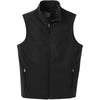 port-authority-black-softshell-vest