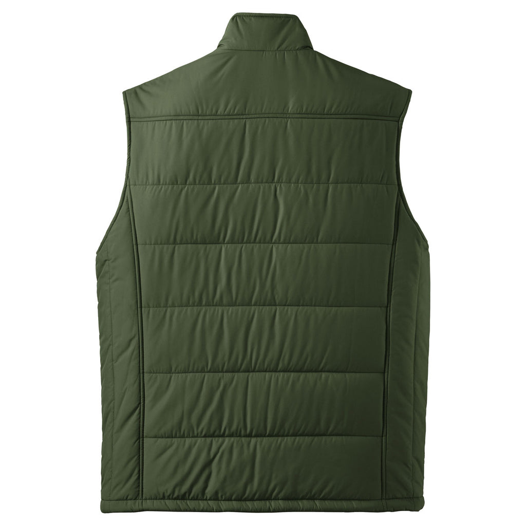 Port Authority Men's Olive/Cayenne Puffy Vest
