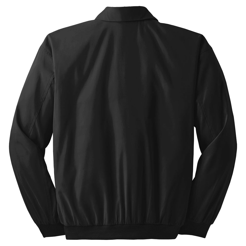 Port Authority Men's Black/Solid Pewter Lining Casual Microfiber Jacket