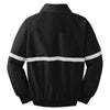 Port Authority Men's True Black/ True Black/ Reflective Challenger Jacket with Reflective Taping