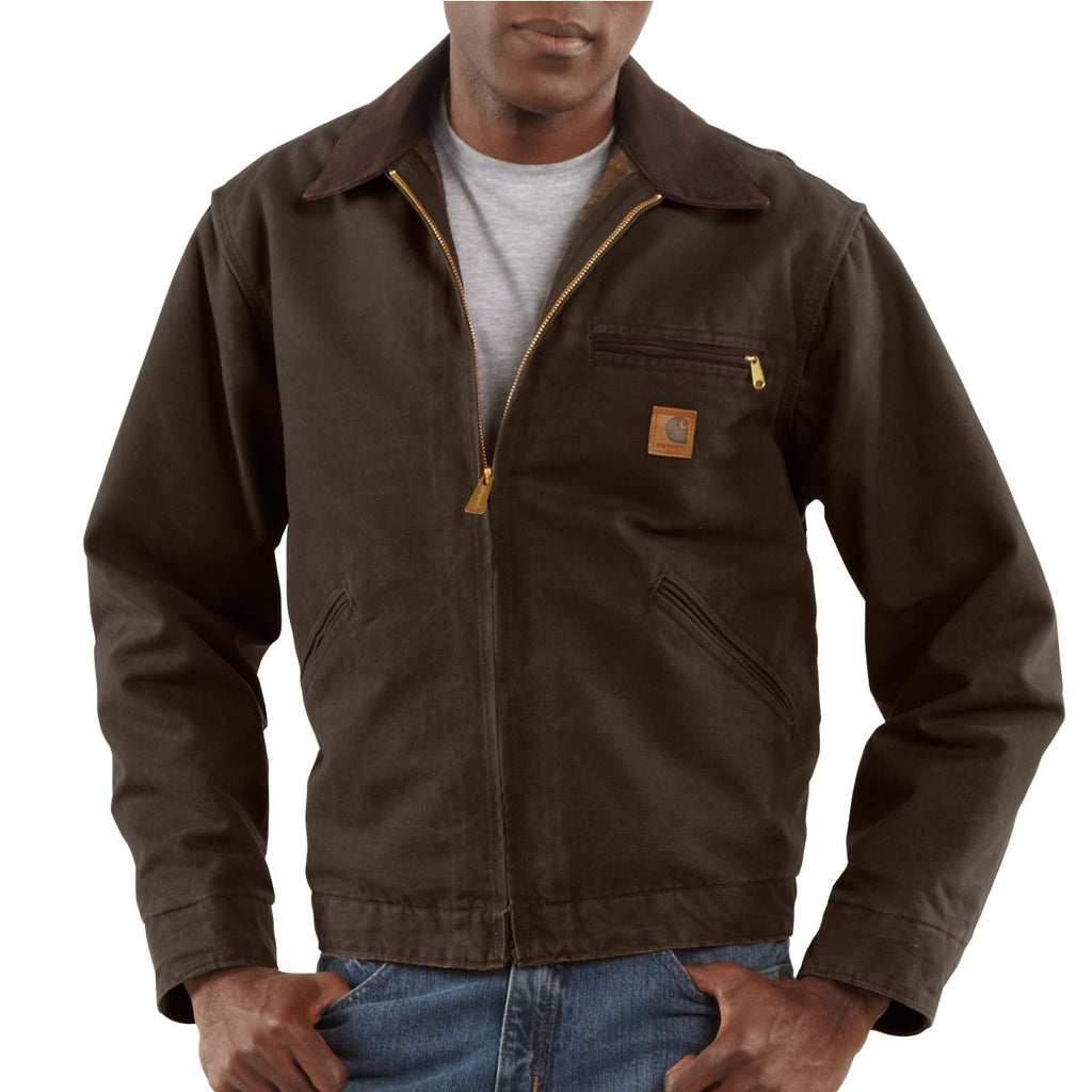 Carhartt Men's Dark Brown Sandstone Detroit Jacket