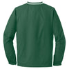 Sport-Tek Men's Forest Green/White Tipped V-Neck Raglan Wind Shirt