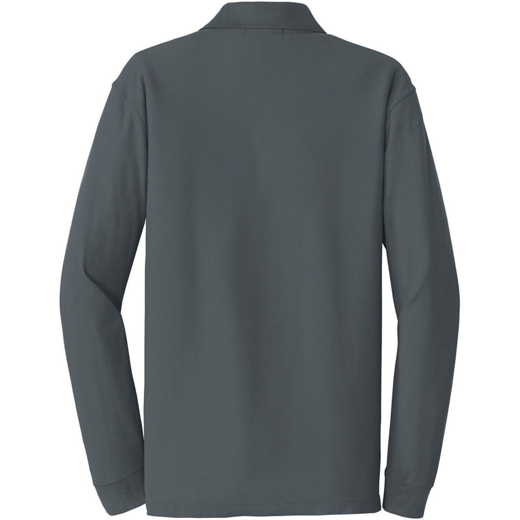 Port Authority Men's Graphite Long Sleeve Core Classic Pique Polo