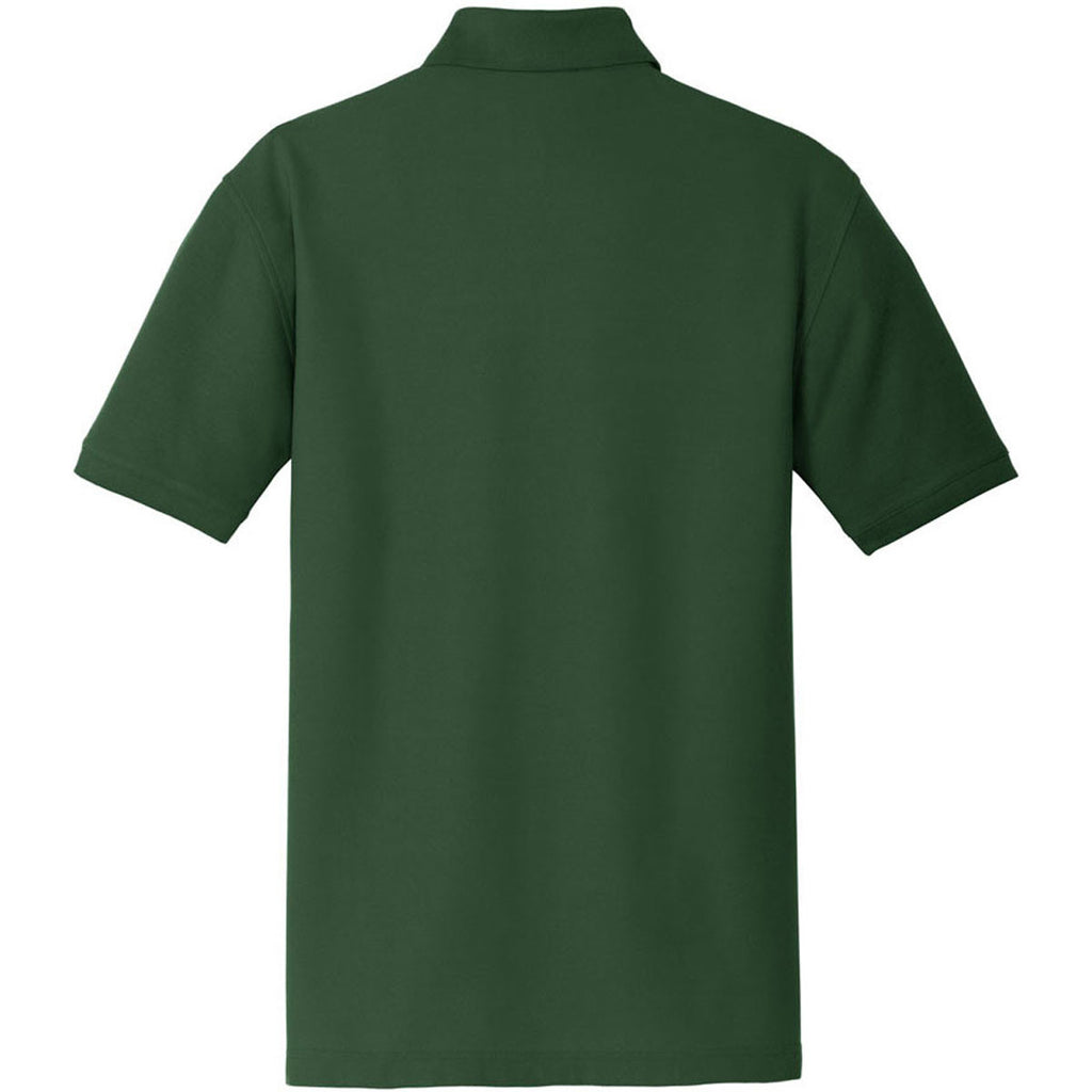 Port Authority Men's Deep Forest Green Core Classic Pique Pocket Polo