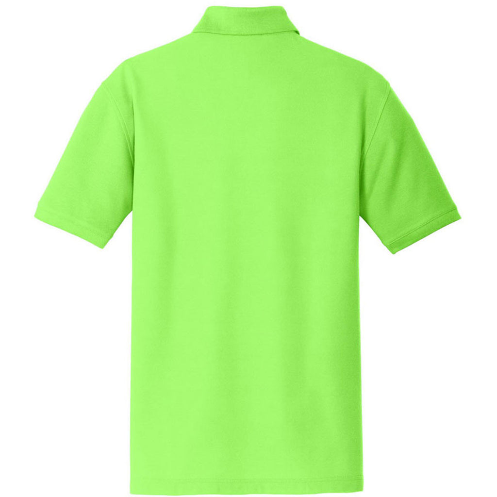 Port Authority Men's Lime Core Classic Pique Polo