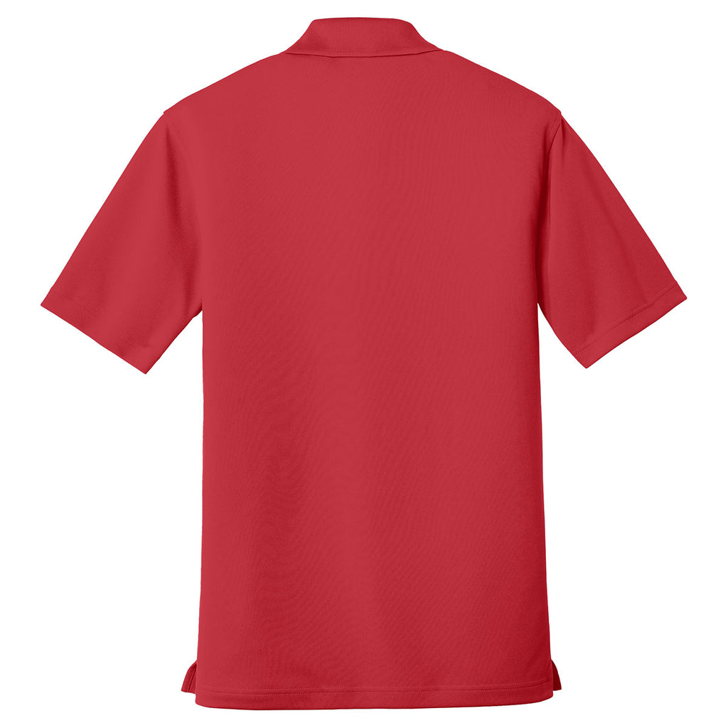Port Authority Men's Rich Red Dry Zone UV Micro-Mesh Pocket Polo