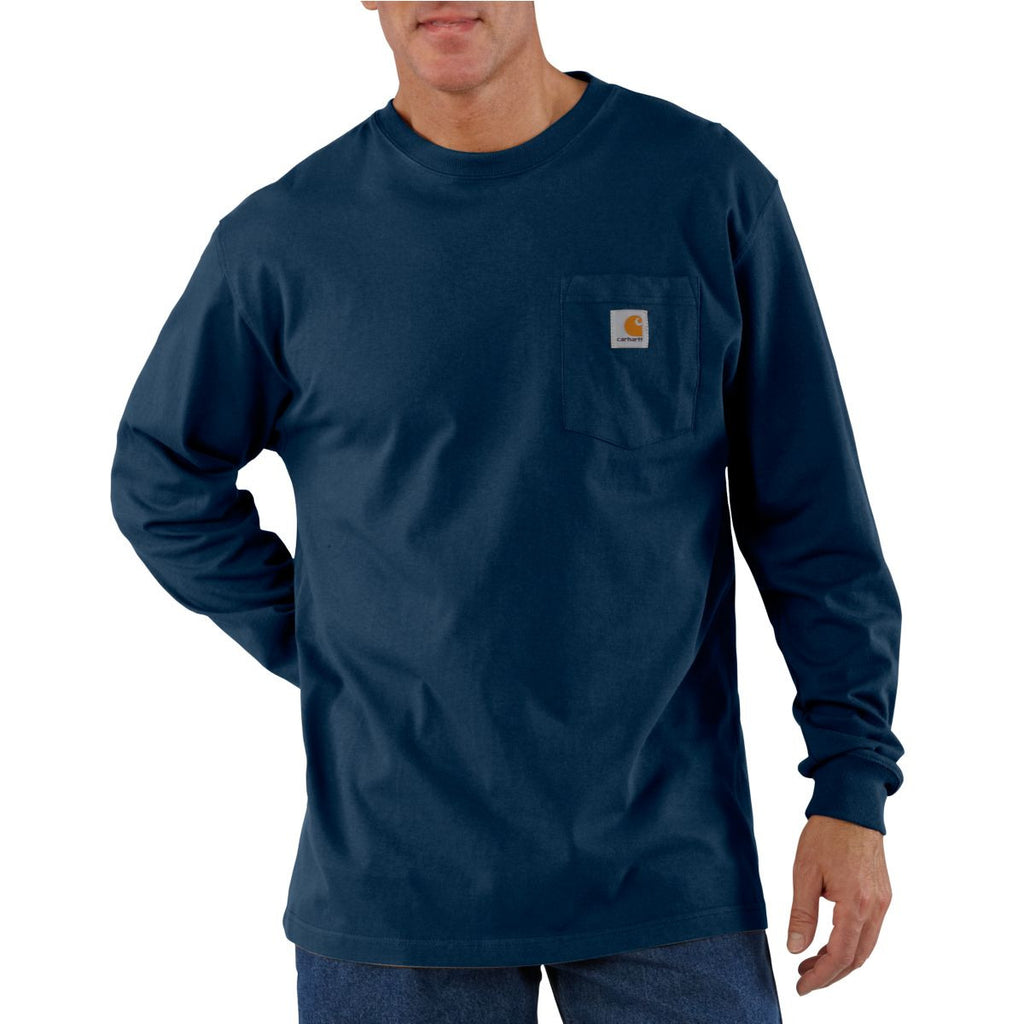 Carhartt Men's Navy Workwear Pocket Long Sleeve T-Shirt
