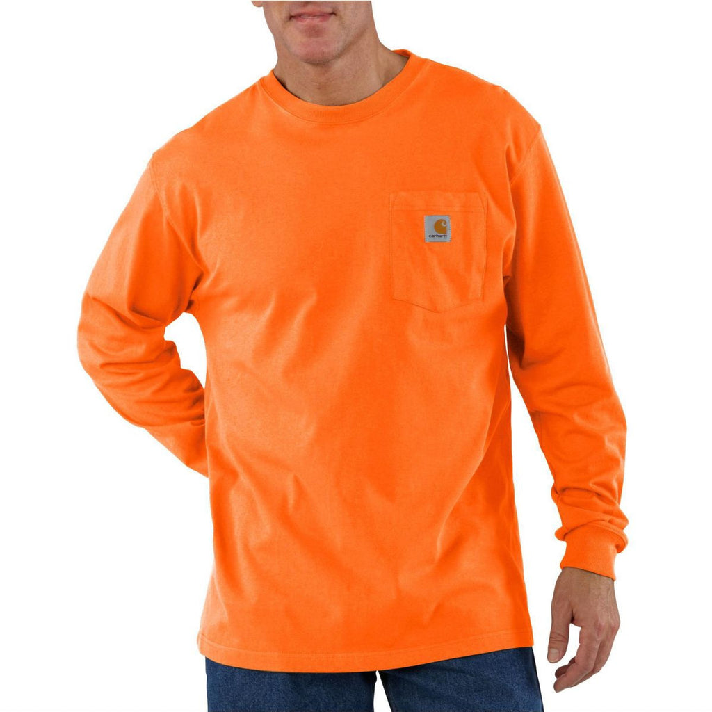 Carhartt Men's Orange Workwear Pocket Long Sleeve T-Shirt