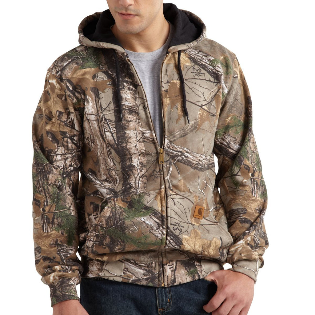 Carhartt Men's Realtree Xtra Midweight Camo Hooded Zip Front Sweatshirt