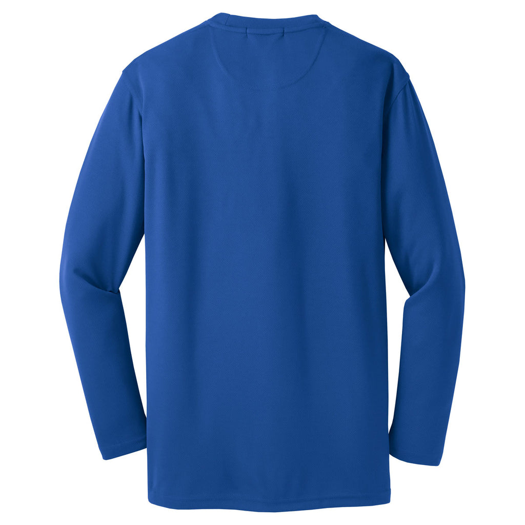 Sport Tek Men S Royal Dri Mesh Long Sleeve T Shirt It says it's a standard fit but this feels really long compare to the other standard fits i've owned from nike. merchology