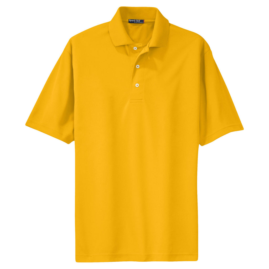 Sport Tek Mens Gold Dri Mesh Polo