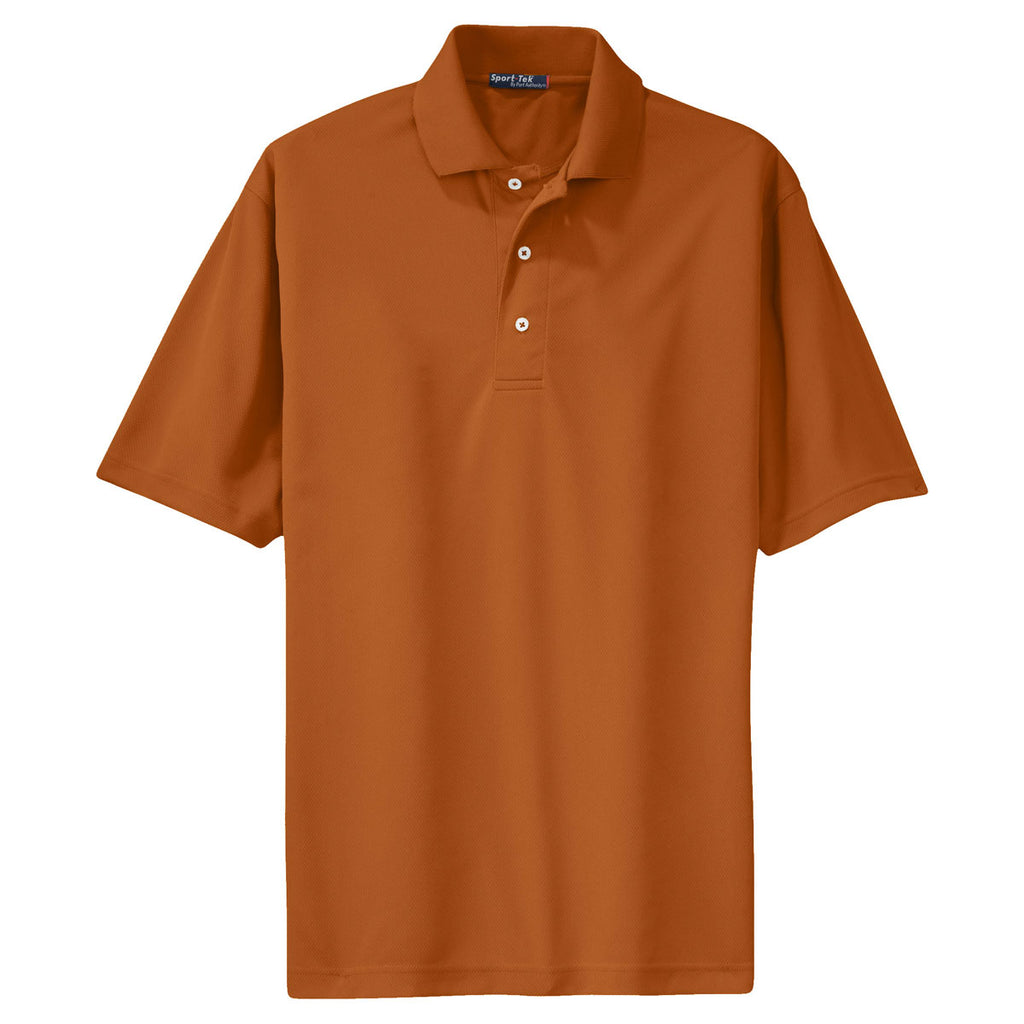 Sport Tek Mens Texas Orange Dri Mesh Polo