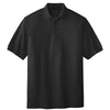 port-authority-black-knit-polo