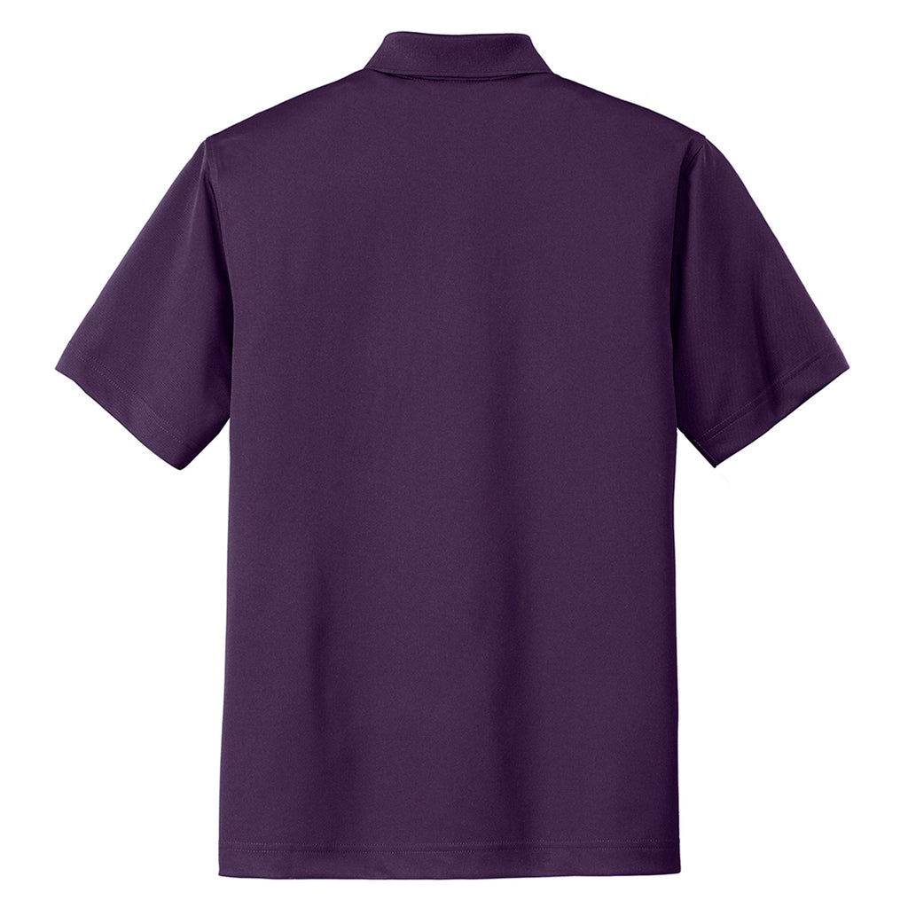 Port Authority Men's Regal Purple Tech Pique Polo