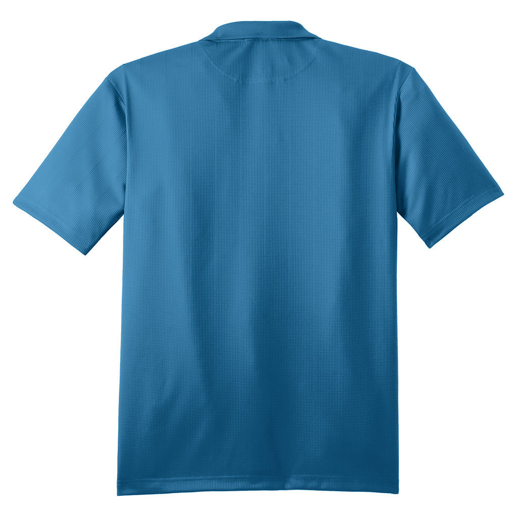 Port Authority Men's Ocean Blue Performance Jacquard Polo