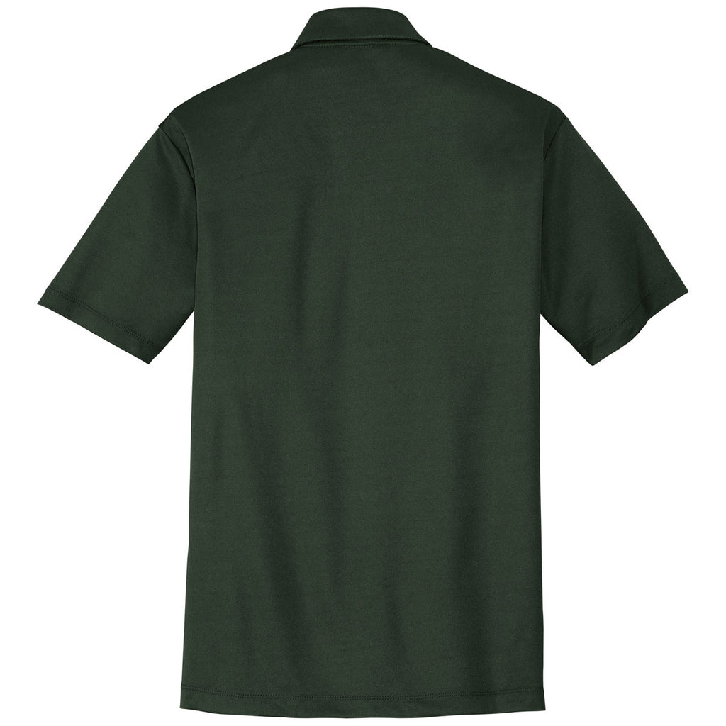 Port Authority Men's Dark Green Performance Poly Polo