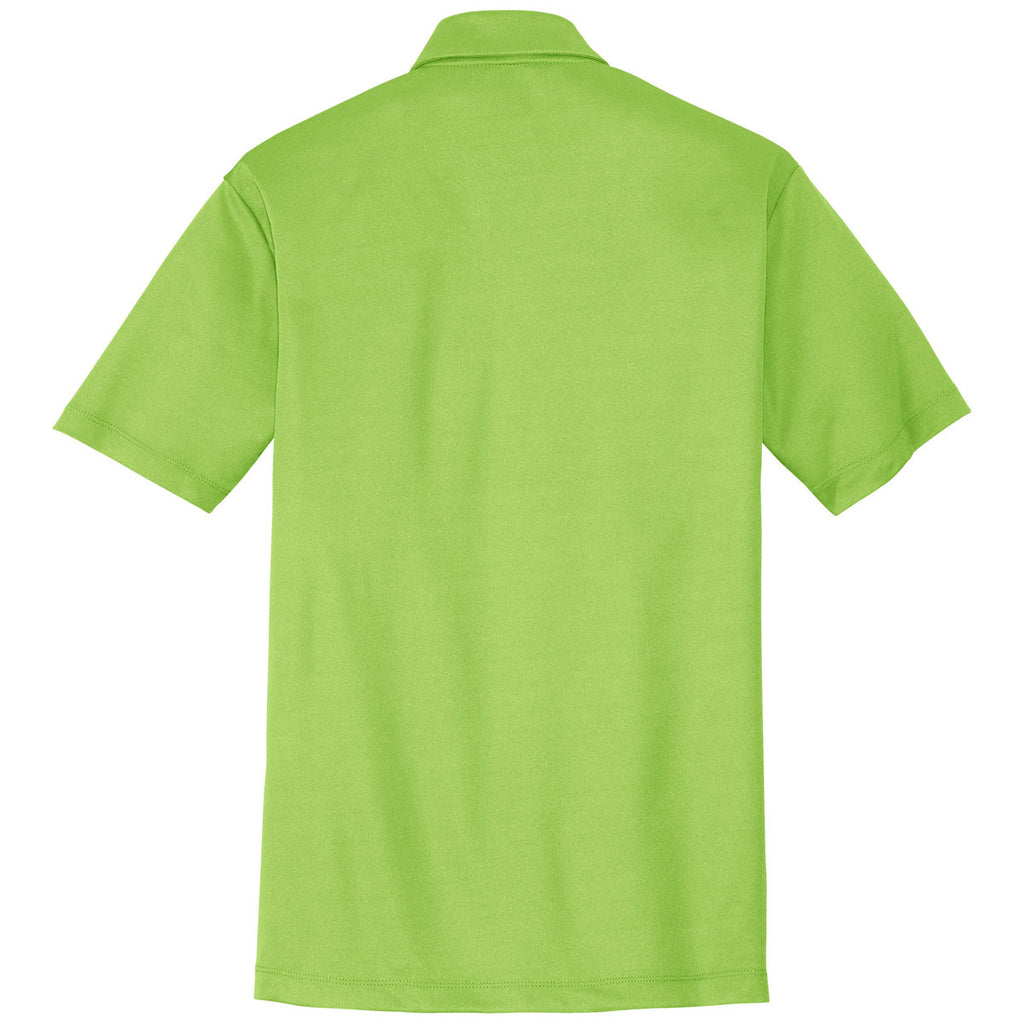 Port Authority Men's Lime Performance Poly Polo
