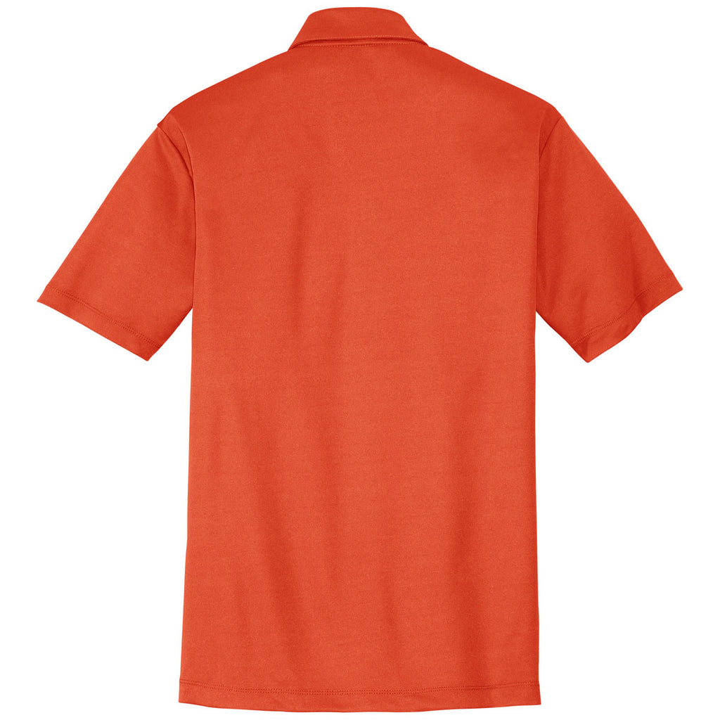 Port Authority Men's Neon Orange Performance Poly Polo