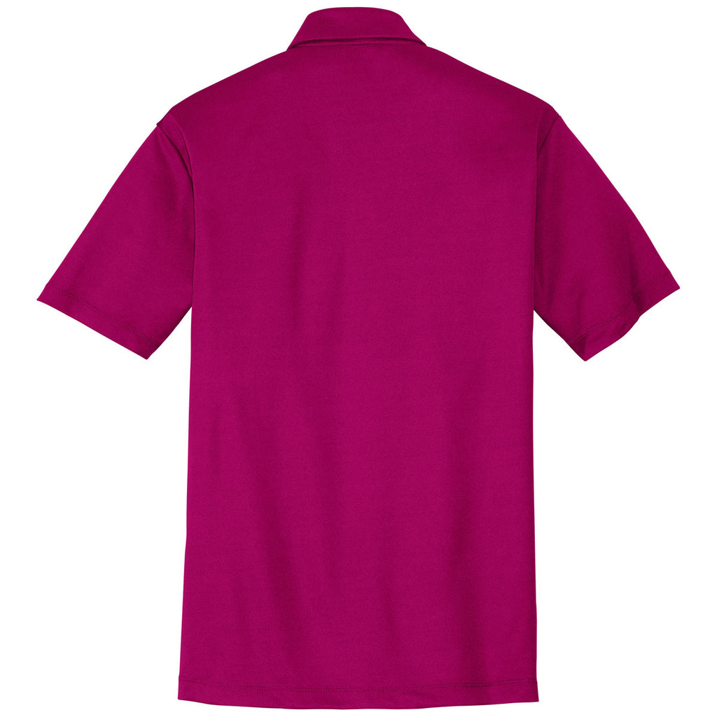Port Authority Men's Pink Raspberry Performance Poly Polo