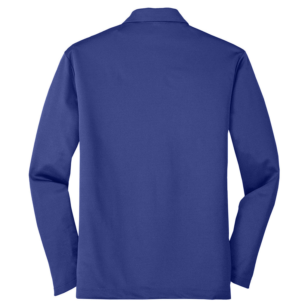 Port Authority Men's Royal Silk Touch Performance Long Sleeve Polo