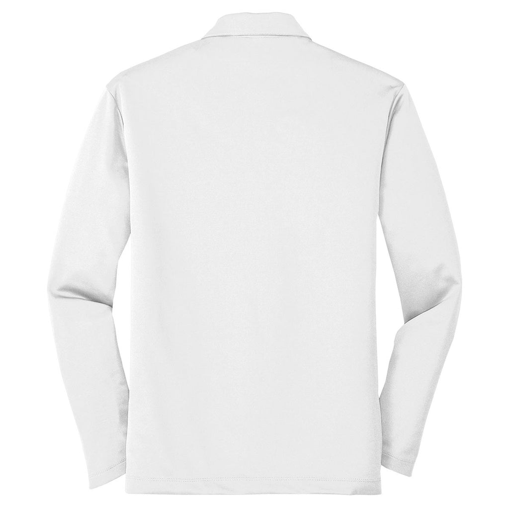 Port Authority Men's White Silk Touch Performance Long Sleeve Polo