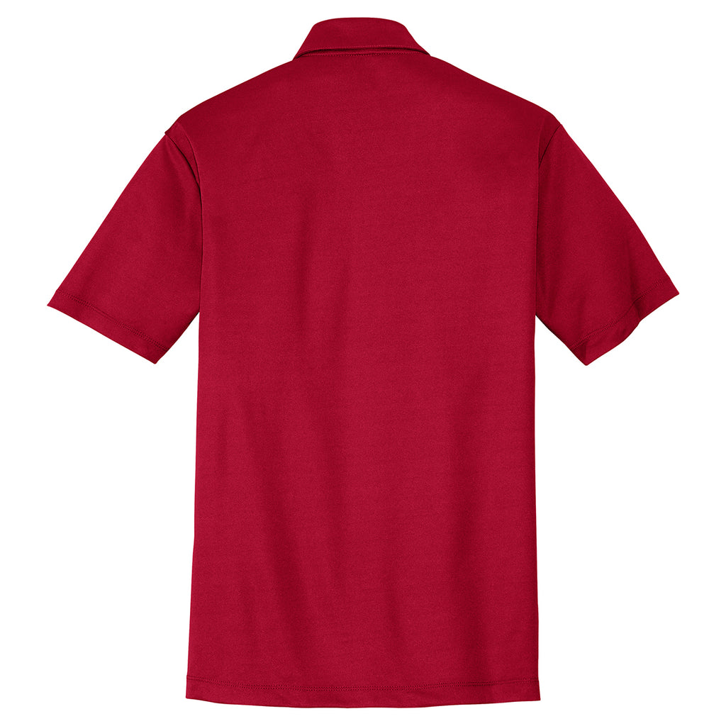 Port Authority Men's Red Performance Poly Polo