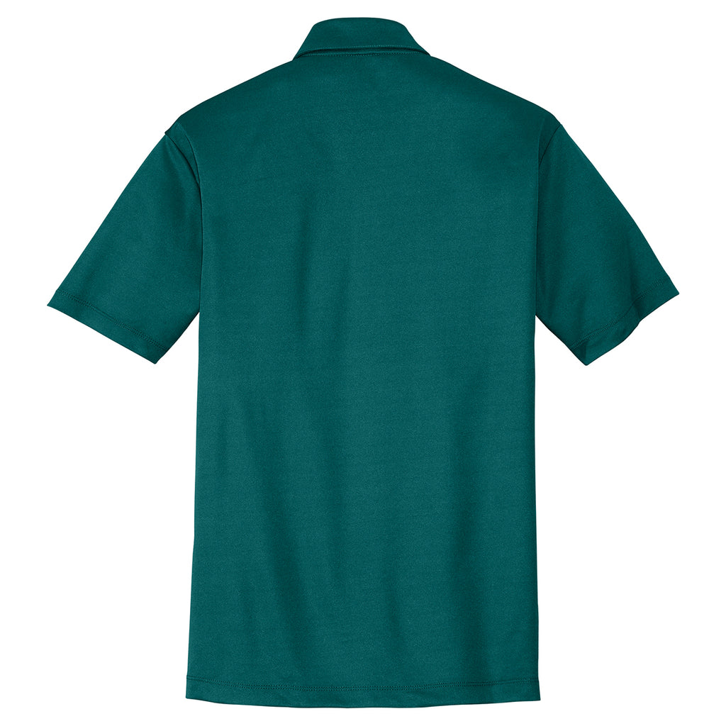 Port Authority Men's Teal Green Performance Poly Polo