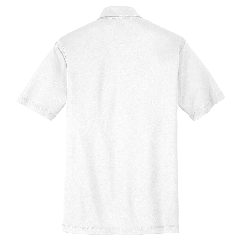 Port Authority Men's White Performance Poly Polo