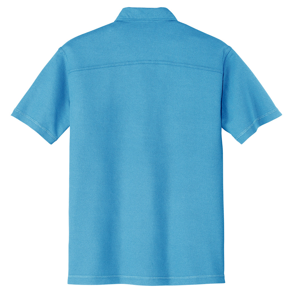 Port Authority Men's Celadon Blue Modern Stain Resistant Pocket Polo