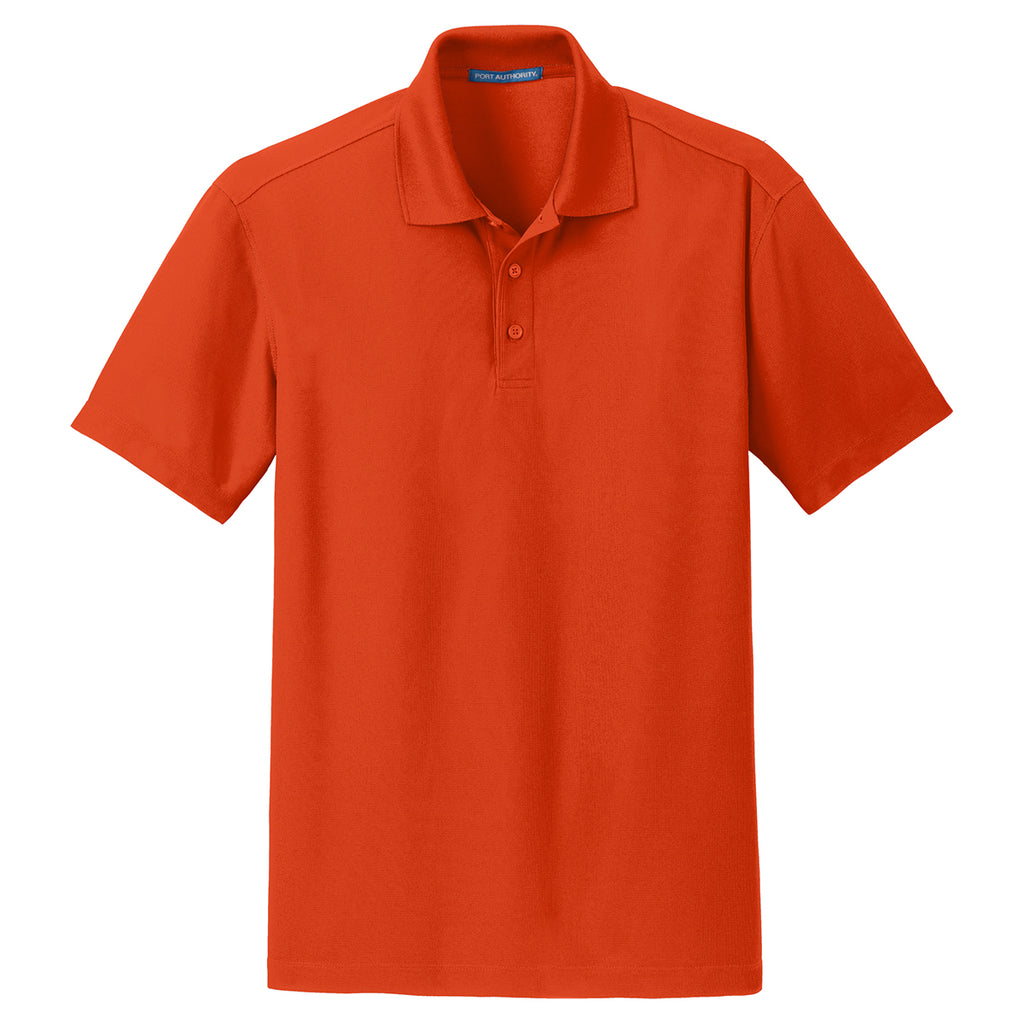 1a67ce40 Port Authority Men's Autumn Orange Dry Zone Grid Polo. ADD YOUR LOGO