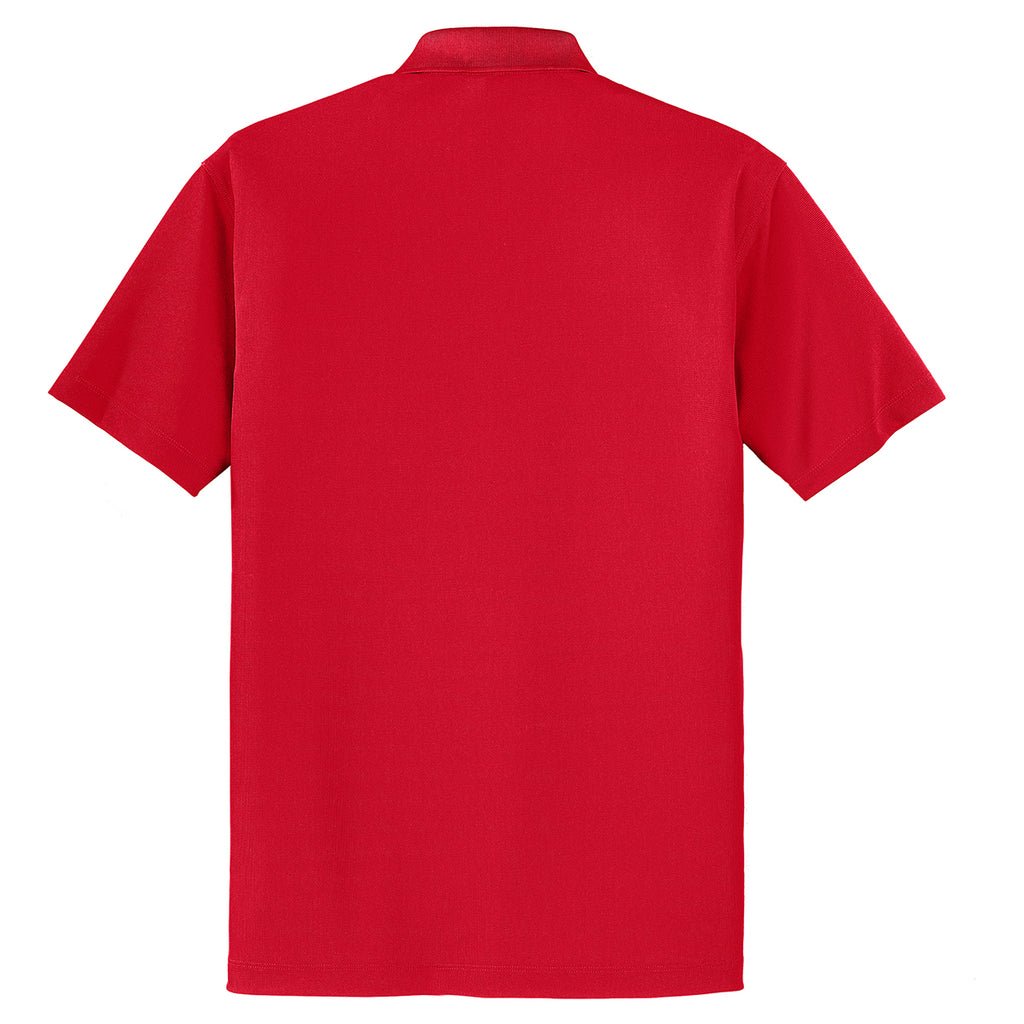 Port Authority Men's Engine Red Dry Zone Grid Polo