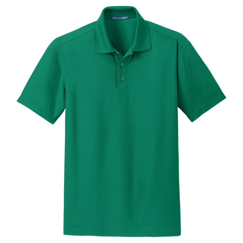 66f8bfca Port Authority Men's Jewel Green Dry Zone Grid Polo. ADD YOUR LOGO