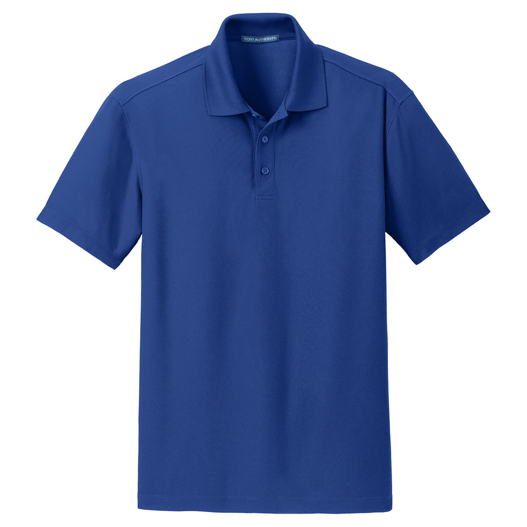 9939759c Port Authority Men's True Royal Dry Zone Grid Polo. ADD YOUR LOGO