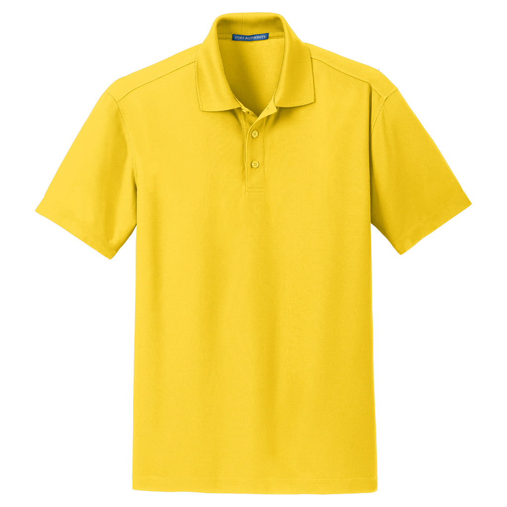 f81fae0b Port Authority Men's Yellow Dry Zone Grid Polo. ADD YOUR LOGO