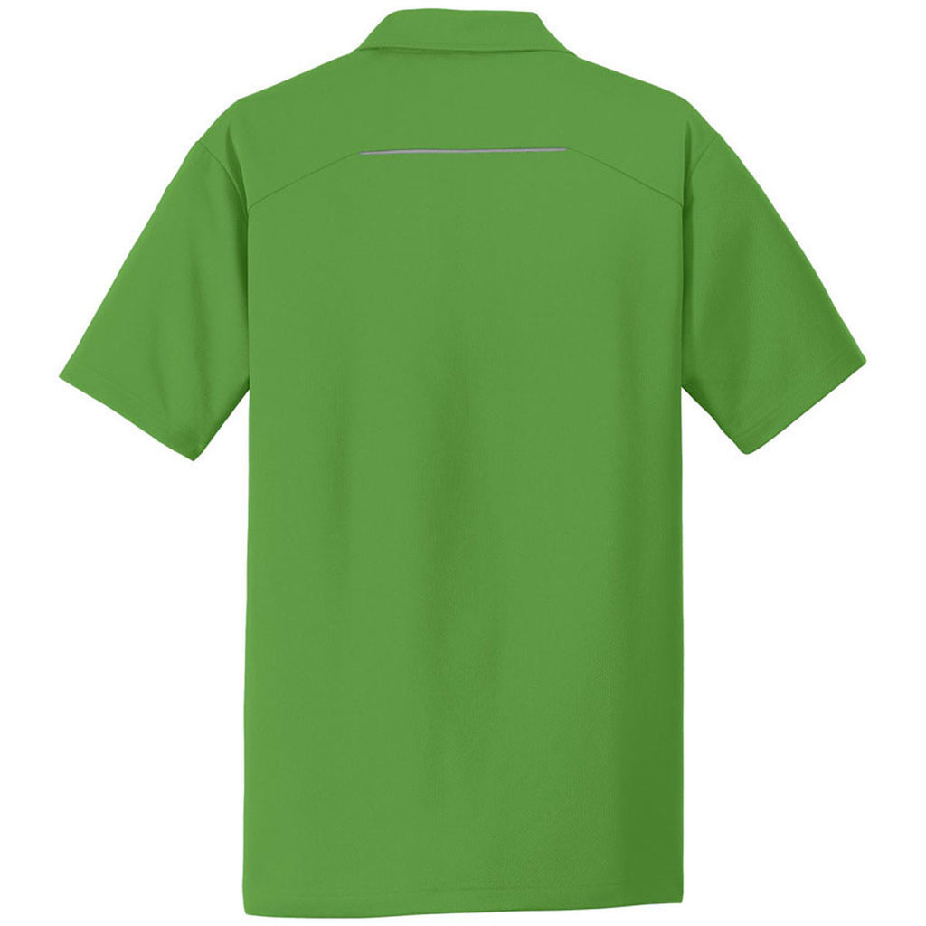 Port Authority Men's Treetop Green Pinpoint Mesh Polo