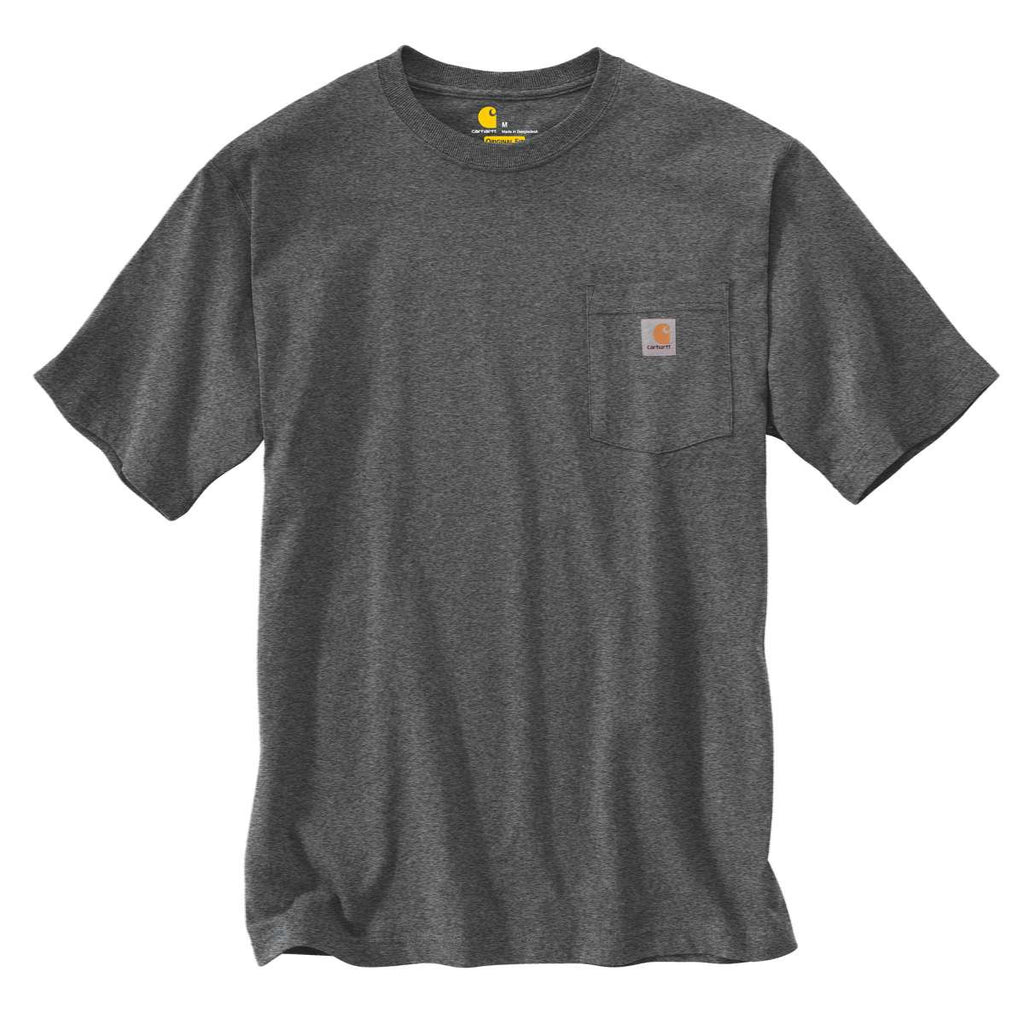 d92331dc9791 Carhartt Men's Carbon Heather Workwear Pocket S/S T-Shirt. ADD YOUR LOGO