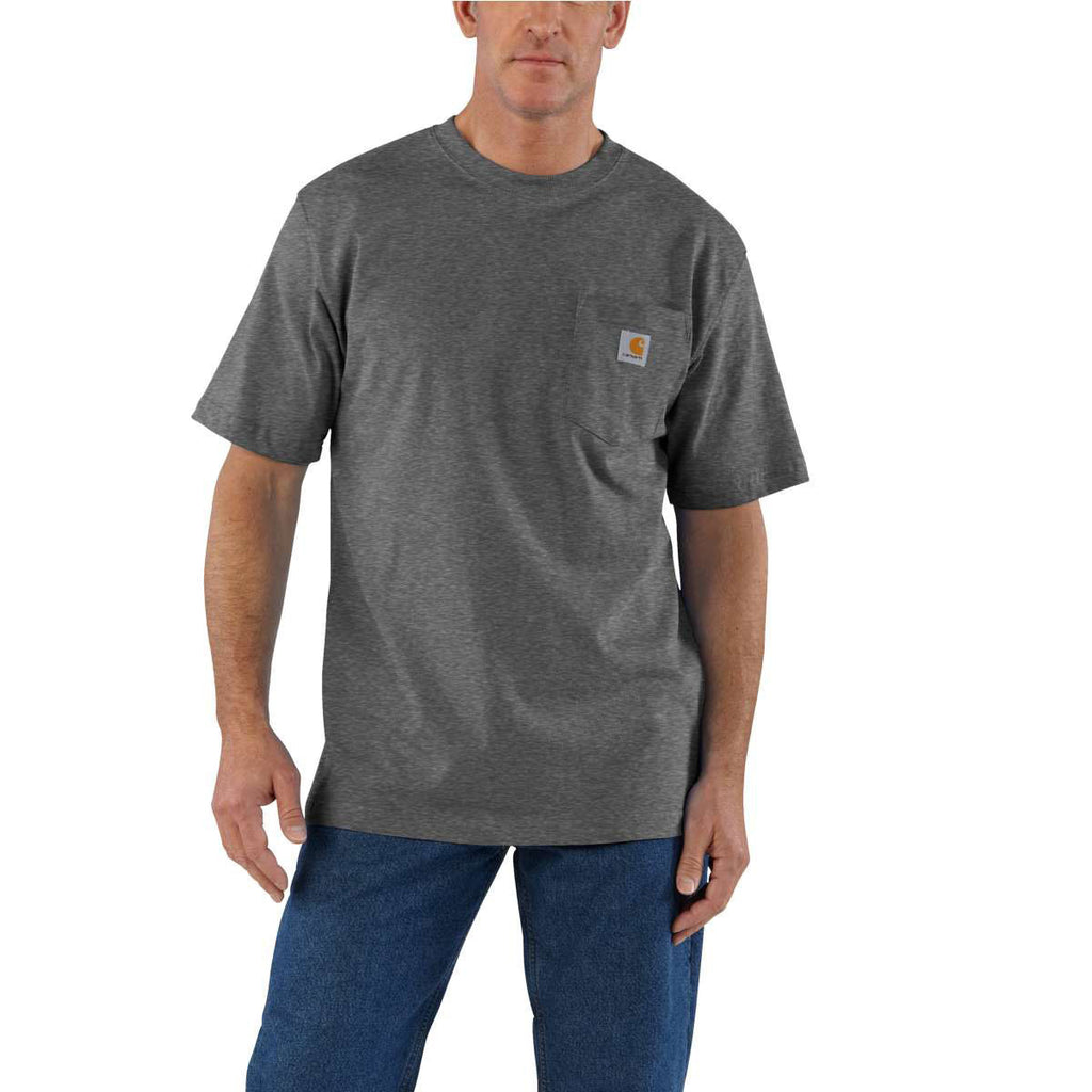 Carhartt Men's Carbon Heather Workwear Pocket S/S T-Shirt