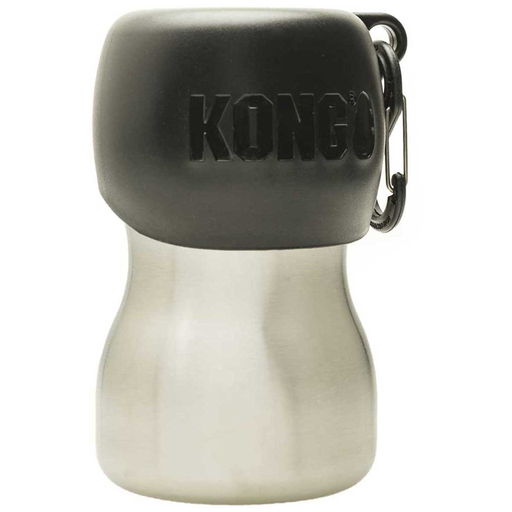 Kong H2O Black 9.5 oz Dog Water Bottle And Travel Bowl
