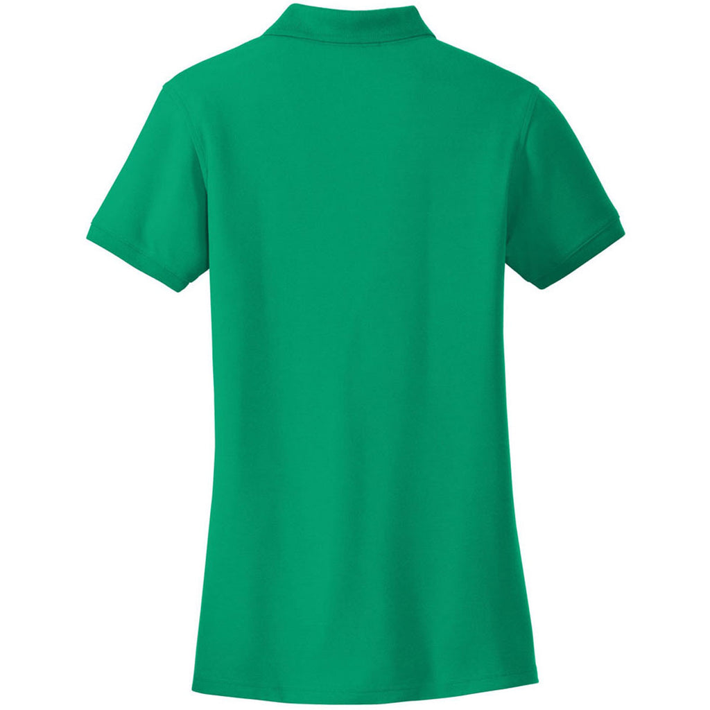 Port Authority Women's Bright Kelly Green Core Classic Pique Polo