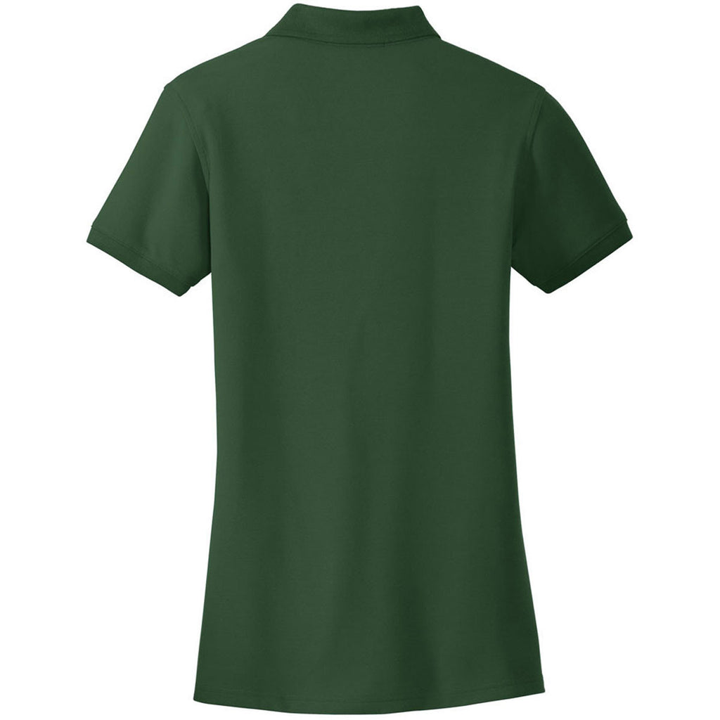 Port Authority Women's Deep Forest Green Core Classic Pique Polo