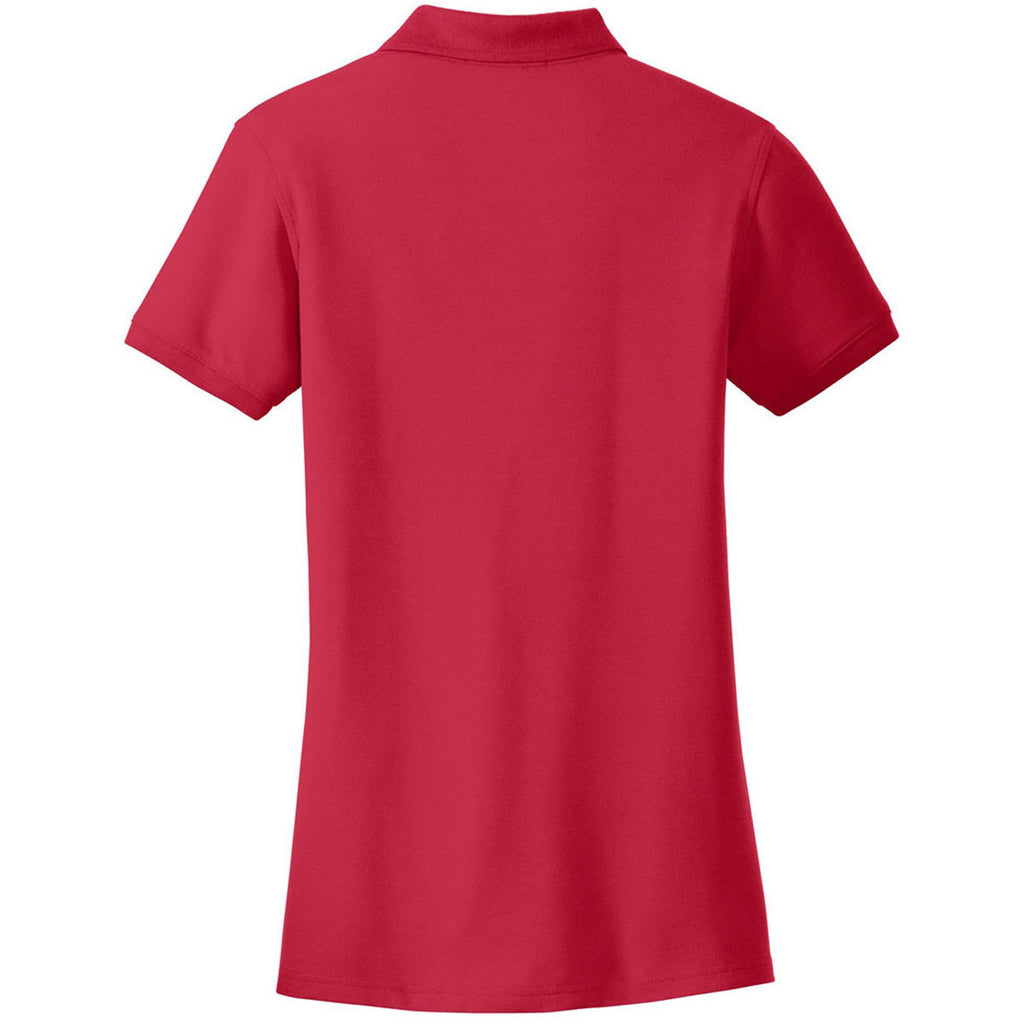 Port Authority Women's Rich Red Core Classic Pique Polo
