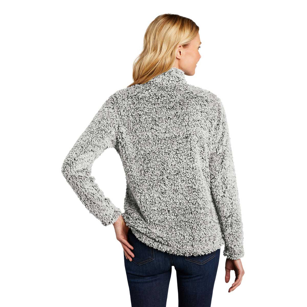 Port Authority Women's Grey Heather Cozy Fleece Jacket