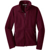 port-authority-women-burgundy-value-fleece