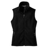 port-authority-women-black-fleece-vest