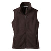 port-authority-women-brown-fleece-vest