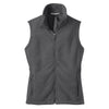 port-authority-women-grey-fleece-vest