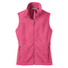 port-authority-women-pink-fleece-vest