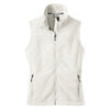 port-authority-women-white-fleece-vest