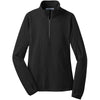 port-authority-women-black-microfleece-zip