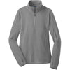 port-authority-women-grey-microfleece-zip